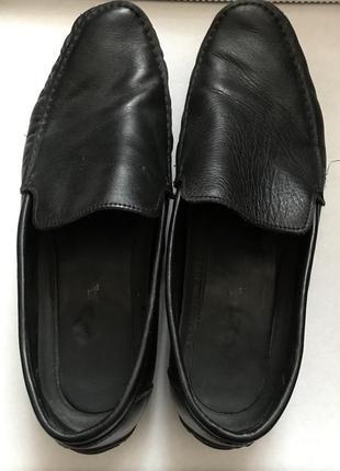 Кожаные мокасины туфли мужские