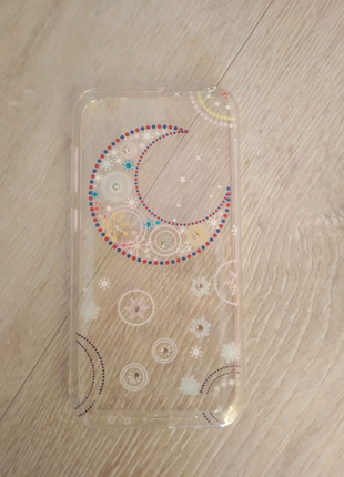 Силиконовый чехол прозрачный с рисунком луна Xiaomi Redmi 5a