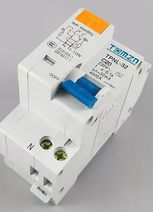 Дифференциальный автоматический выключатель 20А