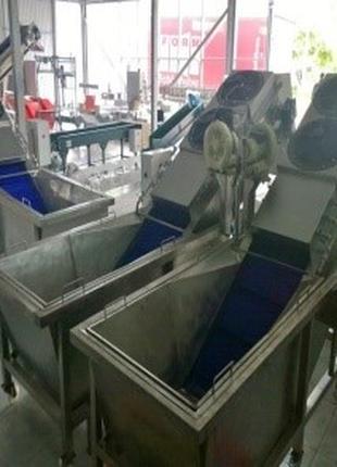 Барботажна мийка з вивантажувальним транспортером