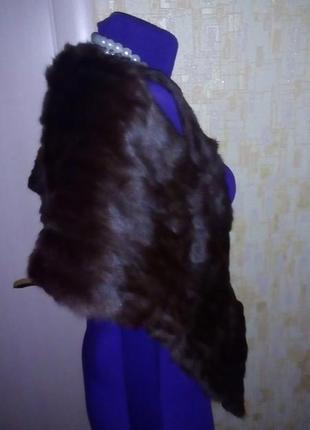 Роскошная горжетка из натурального меха/меховой воротник/мехов...