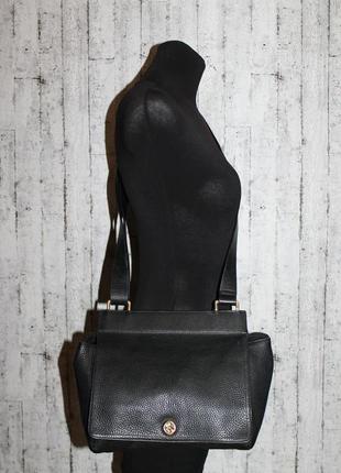 Крутая кожаная сумка кроссбоди от dkny 100% натуральная кожа