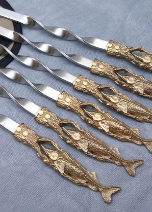 Шампуры Осетр в чехле из плотной ткани 6шт