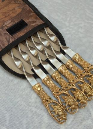 Шампуры Дикий Кабан в чехле из плотной ткани 6шт