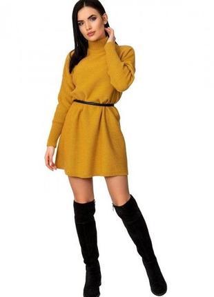 Платье теплое оверсайз auric color trend