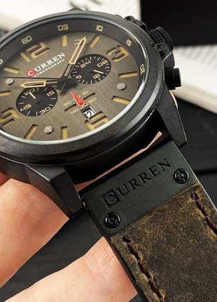 "Мужские часы ""Curren 8314"" Black-Brown Оригинал"
