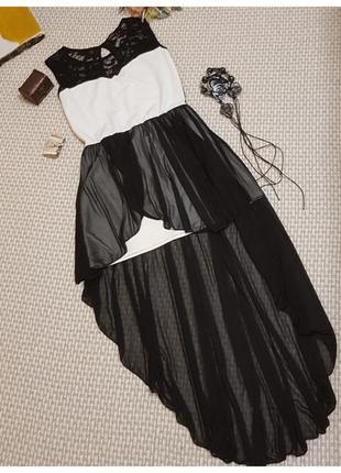 Вечернее платье evita/шифоновое/кружевное