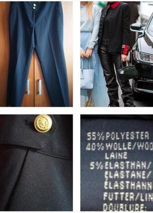 Классические  укороченные брюки из шерсти!