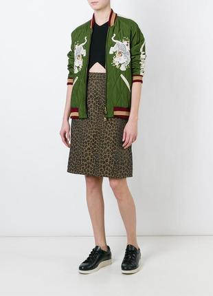Винтаж,леопардовая юбка карандаш,люкс бренд,оригинал,fendi