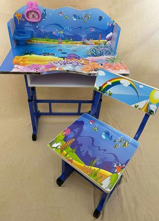 """Детская парта со стульчиком (расцветка из мультика """"В поисках ..."""