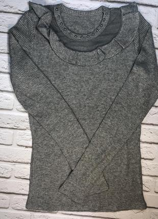 Шикарный гольф серый свитер в рубчик актуальный новый гольфик ...