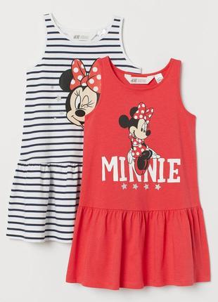 "H&m набор летних платьев ""минни маус"" на 2-4 года"