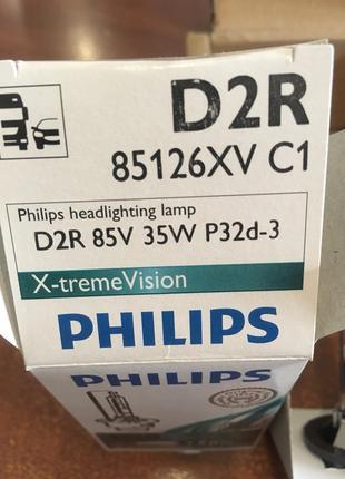 Лампа ксенон Philips Xenon X-treme vision D2R 85126XVC1 +50%