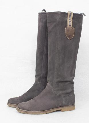 Tommy hilfiger размер 36 - 23 см сапоги женские замшевые