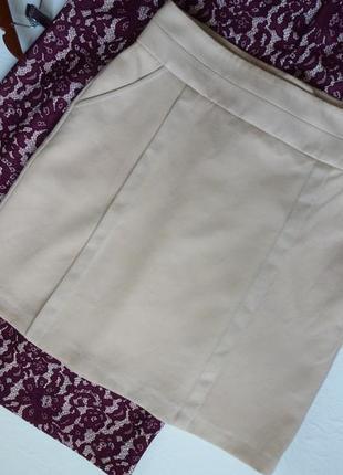 Шерсть, юбка с карманами