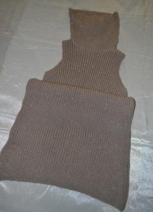 Платье от promod (франция) крупной вязки с люрексовой нитью.