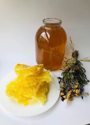 Натуральный мёд/натуральний мед подсолнуха, без пробиотиков