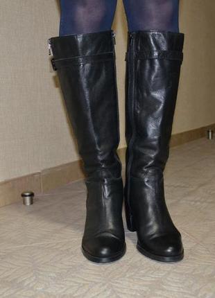Брендовые кожаные сапоги итальянского бренда vera gomma. разме...