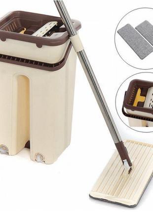 Швабра с автоматическим отжимом Scratch Cleaning Mop с ведром