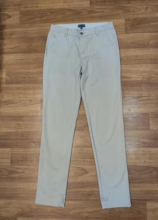 Biaggini бежевые тонкие коттоновые брюки, джинсы