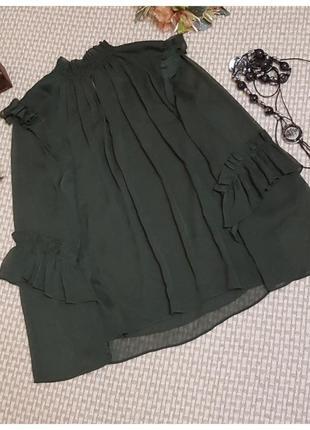 Шифоновая блуза с рюшами h&m