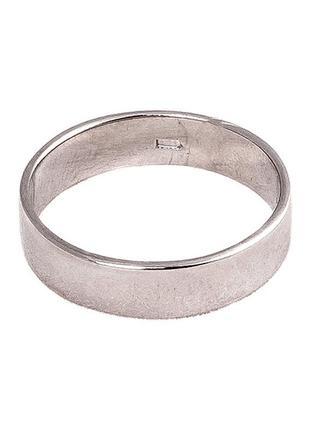 Кольцо из серебра 925 пробы с покрытием из родия обручальное «...