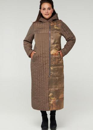 Стёганое пальто больших размеров