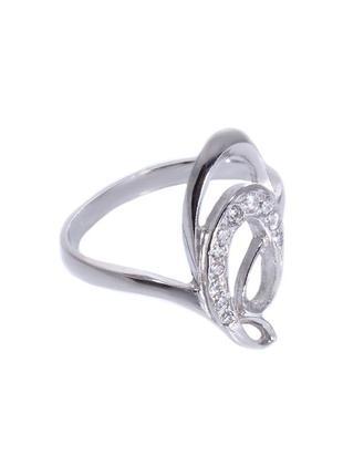 Кольцо из серебра 925 пробы с покрытием из родия аделина