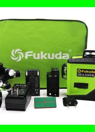 Строительный лазер FUKUDA + ПОДАРОК уровень нивелир зеленый луч