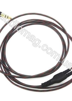 Провод для наушников в силиконовой оболочке угловой штекер кабель
