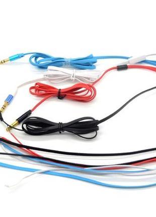 Плоский провод для наушников, аудио кабель лапша, 3мм, штекер ...