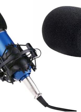 Поролоновая насадка на микрофон ветрозащита защита от ветра