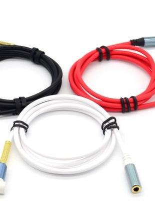 Удлинитель аудио кабель для наушников 3.5мм 1м. провод шнур Audio