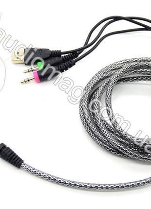 Провод Аудио кабель для игровых компютерных наушников Audio Mi...
