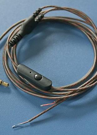 Провод с микрофоном для наушников в силиконовой оболочке гарни...