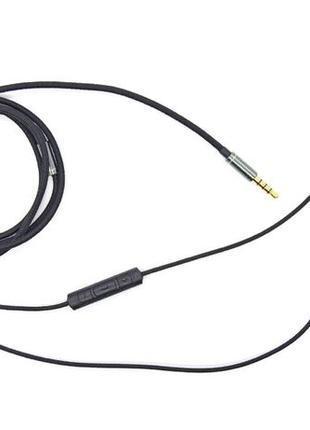 Провод для наушников в нейлоновой оплетке с микрофоном и рег г...