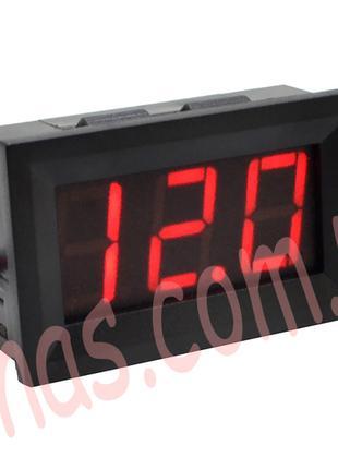 Вольтметр 27014R цифровой 4,5-30V встраиваемый (два провода) К...
