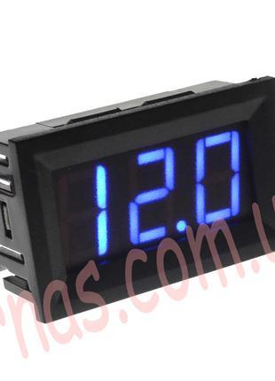 Вольтметр 27014B цифровой 4,5-30V встраиваемый (два провода) С...