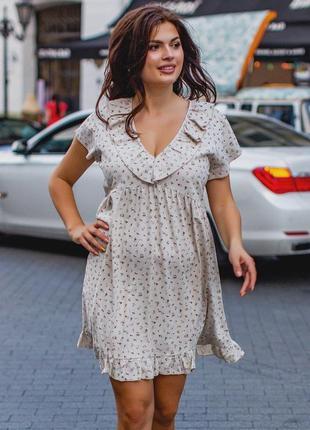 Легкое свободное платье большой размер