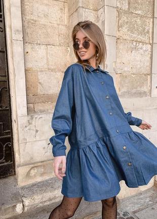 Финнальная распродажа! платье рубашка джинсовое