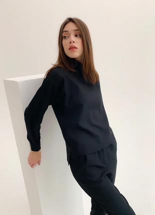 Распродажа строгий костюм черный укороченные штаны