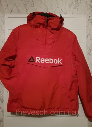 Красная теплая спортивная куртка - анорак. XS - XL