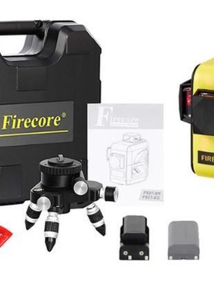 Лазерный уровень Firecore F93T XR в кейсе 3D с красными лучами