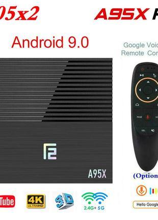 A95X F2 - 4Gb/32Gb Cмарт ТВ Андроид 9 приставка X96 MAX