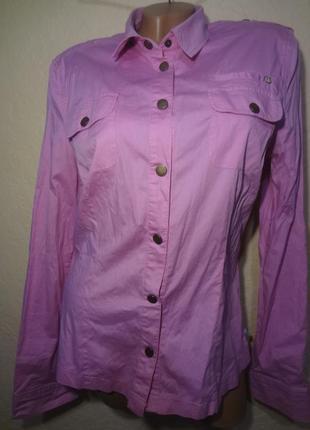 Рубашка фиолетовая dept размер xl