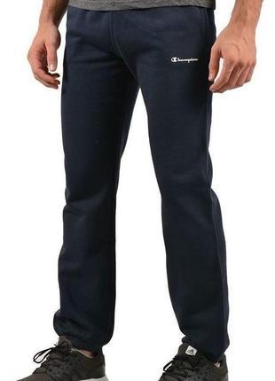 Теплые спортивные брюки штаны хлопок на резинках champion elas...