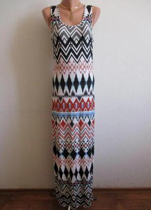 Длинное макси платье-майка в пол из трикотажа atmosphere