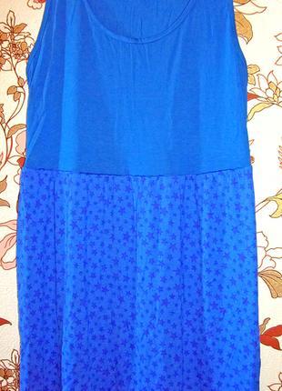 Милое трикотажное платье без рукавов. 52 размер