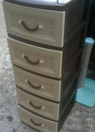 Пластиковый комод, шкафчик, органайзер, тумбочка на 5 ящиков