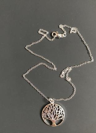 Аксессуар серебряная цепочка +кулон( серебро 925 проба)